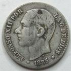 Photo numismatique  Monnaies Monnaies étrangères Espagne, Spain 50 Centimos Espagne, Spain, 50 centimos 1885 MS.M, Alphonso XII, KM.160 TB à TTB