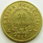 Photo numismatique  Monnaies Monnaies Française en or 1er Empire 20 Francs or NAPOLEON I, 20 francs or 1812 A, G.1025 TTB