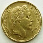 Photo numismatique  Monnaies Monnaies Française en or Second Empire 20 Francs or NAPOLEON III, 20 francs or lauré 1865 A, G.1062 TTB+