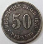 Photo numismatique  Monnaies Allemagne après 1871 Allemagne, Deutschland, Empire, Kaisereich 50 Pfennig Allemagne, Deutschland, Empire, 50 pfennig 1876 J, J.7 TTB