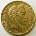 Photo numismatique  Monnaies Monnaies Française en or Second Empire 20 Francs or NAPOLEON III, 20 francs or lauré 1862 A, Variété Grand A, G.1062 TTB R!