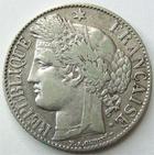 Photo numismatique  Monnaies Monnaies Fran�aises Troisi�me R�publique 1 Franc 1 franc C�r�s 1888 A Paris, G.465a TTB