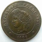 Photo numismatique  Monnaies Monnaies Françaises Troisième République 5 Centimes 5 centimes Cérès 1896 A Faisceau, G.157a SUPERBE