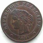 Photo numismatique  Monnaies Monnaies Françaises Troisième République 1 Centime 1 centime Cérès 1894 A, G.88 TTB à SUPERBE
