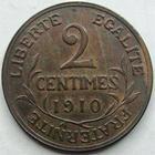 Photo numismatique  Monnaies Monnaies Françaises Troisième République 2 Centimes 2 centimes Dupuis 1910, G.107 SUPERBE