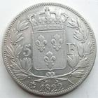 Photo numismatique  Monnaies Monnaies Fran�aises Louis XVIII 5 Francs LOUIS XVIII, 5 francs 1822 A Paris, G.614 TTB