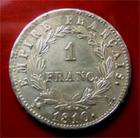 Photo numismatique  Monnaies Monnaies Françaises 1er Empire 1 Franc NAPOLEON Ier, premier empire, 1 franc 1810 A, G.447 SUPERBE + belle monnaie!!!