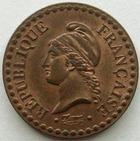 Photo numismatique  Monnaies Monnaies Fran�aises Deuxi�me R�publique 1 Centime 1 centime Dupr� 1850 A Paris, G.84 SUPERBE+ beaux restes de brillant d'origine