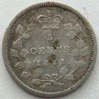 Photo numismatique  Monnaies Monnaies étrangères Canada 5 Cents CANADA, 5 cents 1871, Victoria, KM.2 TTB