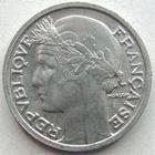 Photo numismatique  Monnaies Monnaies Françaises Gouvernement Provisoire 50 Centimes 50 centimes Morlon aluminium 1946 B, G.426a SUPERBE