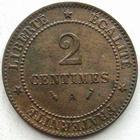 Photo numismatique  Monnaies Monnaies Françaises Troisième République 2 Centimes 2 centimes Cérès 1886 A Paris, G.105 TTB à SUPERBE