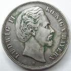 Photo numismatique  Monnaies Allemagne après 1871 Allemagne, Deutschland, Bayern, Baviere 5 Mark Allemagne, Deutschland, Bayern, Bavière, 5 mark 1876 D, Ludwig II, J.42 TTB