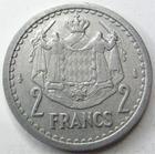 Photo numismatique  Monnaies Monnaies étrangères Monaco 2 Francs MONACO, 2 francs non daté, Louis II, G.133 TTB