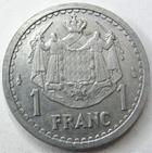 Photo numismatique  Monnaies Monnaies étrangères Monaco 1 Franc MONACO, 1 franc non daté, Louis II, G.131 TTB+