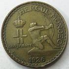 Photo numismatique  Monnaies Monnaies étrangères Monaco 1 Franc MONACO, 1 franc 1926 Poissy, Louis II, G.128 TTB