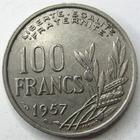 Photo numismatique  Monnaies Monnaies Françaises 4ème république 100 Francs 100 francs Cochet 1957, G.897 TTB