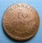 Photo numismatique  Monnaies Monnaies de sièges 1er Empire 10 Centimes SIEGE D'ANVERS 1er Empire 10 centimes 1814, Type a, Gadoury 191a, bel exemplaire ! Superbe +