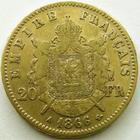 Photo numismatique  Monnaies Monnaies Française en or Second Empire 20 Francs or NAPOLEON III, 20 francs or lauré 1868 A Paris, G.1062 TTB/TB+