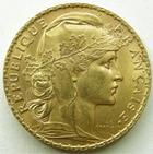 Photo numismatique  Monnaies Monnaies Française en or Troisième République 20 Francs or 20 francs Coq (Marianne) 1906, G.1064 TTB+