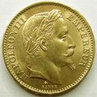 Photo numismatique  Monnaies Monnaies Française en or Second Empire 20 Francs or NAPOLEON III, 20 francs or lauré 1867 A Paris, G.1062 TTB+