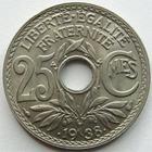 Photo numismatique  Monnaies Monnaies Françaises Troisième République 25 centimes Lindauer 25 centimes Lindauer .1938., G.381 SUPERBE+