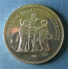 Photo numismatique  Monnaies Monnaies Françaises Cinquième république 50 Francs CINQUIEME REPUBLIQUE 50 Francs Hercule 1980, Gadoury 882 Q.FDC