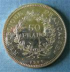 Photo numismatique  Monnaies Monnaies Fran�aises Cinqui�me r�publique 50 Francs CINQUIEME REPUBLIQUE 50 Francs Hercule 1980, Gadoury 882 Q.FDC