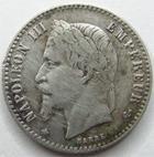 Photo numismatique  Monnaies Monnaies Françaises Second Empire 50 Centimes NAPOLEON III, 50 centimes lauré 1867 A, G.417 TB à TTB traces de néttoyage