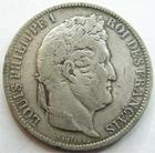 Photo numismatique  Monnaies Monnaies Françaises Louis Philippe 5 Francs LOUIS PHILIPPE, 5 francs 1831 H La Rochelle, G.677a TB/TB+