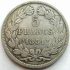 Photo numismatique  Monnaies Monnaies Fran�aises Louis Philippe 5 Francs LOUIS PHILIPPE, 5 francs 1831 H La Rochelle, G.677a TB/TB+