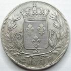 Photo numismatique  Monnaies Monnaies Françaises Charles X 5 Francs CHARLES X, 5 francs 1827 D Lyon, G.644 traces de néttoyage sinon TTB