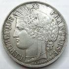 Photo numismatique  Monnaies Monnaies Françaises Défense nationale 5 Francs 5 francs Cérès 1870 A Paris, sans légende, G.742 TTB