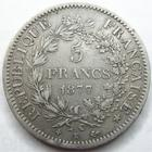 Photo numismatique  Monnaies Monnaies Françaises Troisième République 5 Francs 5 francs Hercule 1877 K Bordeaux, G.745a TB à TTB