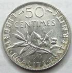 Photo numismatique  Monnaies Monnaies Françaises Troisième République 50 Centimes 50 centimes Semeuse de Roty, 1915, G.420 SUPERBE