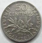 Photo numismatique  Monnaies Monnaies Françaises Troisième République 50 Centimes 50 centimes Semeuse de Roty 1900, G.420 TTB