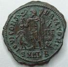 Photo numismatique  Monnaies Empire Romain LICINIUS I, LICINIO I,  Follis, folles,  LICINIUS I, Follis, Alexandrie en 321-324, Buste radié, Iovi conservatori, 2.92 grammes, RIC.28 R1, TTB+