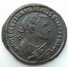Photo numismatique  Monnaies Empire Romain DIOCLETIEN, DIOCLETIANUS, DIOCLETIAN, DIOCLETIANO Follis, folles,  DIOCLETIANUS, DIOCLETIEN, Follis, Trêves en 305-307, Providentiae Deorum Quies Augg, 8.37 Grms, RIC.676a Traces de néttoyage sinon TTB+