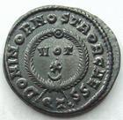 Photo numismatique  Monnaies Empire Romain CRISPUS, CRISPE, CRISPO Follis, folles,  CRISPUS, Follis, Ticinium en 322-325, Dominor Nostror Caess, 3.70 grammes, RIC.170 SUPERBE
