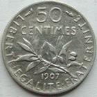 Photo numismatique  Monnaies Monnaies Françaises Troisième République 50 Centimes 50 centimes Semeuse de Roty, 1907, G.420 TTB