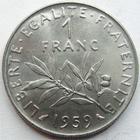 Photo numismatique  Monnaies Monnaies Françaises Cinquième république 1 Franc essai 1 franc Semeuse de Roty 1959