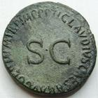 Photo numismatique  Monnaies Empire Romain GERMANICUS, GERMANICO As, asse,  GERMANICUS, 15 avant-19 apr�s Jc, As frapp� sous Claude I er, SC, 11.47 grammes, RIC.106 TTB+
