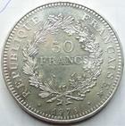 Photo numismatique  Monnaies Monnaies Françaises Cinquième république 50 Francs 50 francs en argent type Hercule, 1978, G.882 SUPERBE