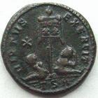 Photo numismatique  Monnaies Empire Romain LICINIUS I, LICINIO I,  Follis, folles,  LICINIUS I, Follis, Thessalonique en 320, Virtus Exercit, Vot XX, 3.19 grammes, RIC.76 TTB