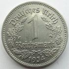 Photo numismatique  Monnaies Allemagne après 1871 allemagne, deutschland, germany, dritte reich, 3 em reich 1 mark, 1 reichmark Allemagne, 3 ème Reich, Dritte Reich, reichmark 1934 D, J.354 TTB+