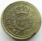 Photo numismatique  Monnaies Poids Monétaires Louis XVI Scudo di Francia, Ecu français Poids Monétaire,Sous louis XVI, Scudo di Francia, 29.52 grammes, TTB+ Rare!