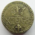 Photo numismatique  Monnaies Poids Monétaires Louis XIII Poids monétaire Poids monétaire, sous Louis XIII, XI DE I GR, 14.14 grammes, TTB