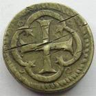 Photo numismatique  Monnaies Poids Monétaires Louis XIII Poids monétaire Poids monétaire, sous Louis XIII, V DE VI G, 6.72 grammes, TTB