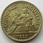 Photo numismatique  Monnaies Monnaies Françaises Troisième République 50 Centimes 50 centimes Domard 1922, G.421 Tâches, TTB à SUPERBE