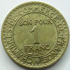 Photo numismatique  Monnaies Monnaies Françaises Troisième République 1 Franc 1 Franc Domard 1922, G.468 Tâches, TTB à SUPERBE