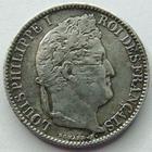 Photo numismatique  Monnaies Monnaies Françaises Louis Philippe 50 Centimes LOUIS PHILIPPE I er, 50 centimes 1846 A Paris, G.410 Rayures sur le portrait sinon TTB